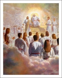 Heavenly Council - Jesus in his pre-mortal state presents His Plan